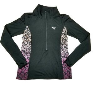 VS PINK Ultimate Yoga Half Zip Logo  Sweater M